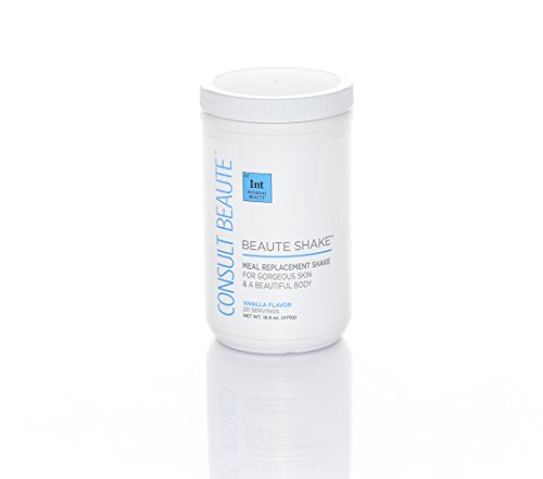 Beaute Shake Meal Replacement Shake for Gorgeous Skin & a Beautiful Body - Vanilla Flavor 16.5 oz
