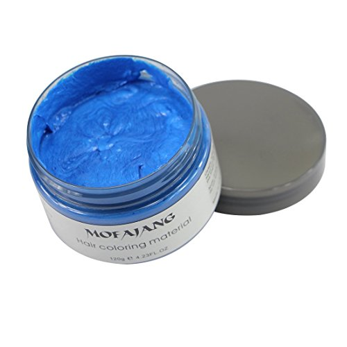 MOFAJANG Hair Coloring Wax, Blue Temporary Hairstyle Cream, Natural Hairstyle Color Pomade, Washable Hair Dye Styling Wax Cream Mud