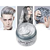 Mofajang Hair Color Wax,INST Temporary Hair Dye,Hair Coloring Wax,Washable Temporary, Natural Hairstyle Color Wax for Party,Halloween,Cosplay(Silver Grey)